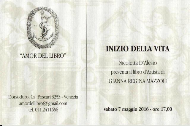 Inizio della Vita_ Amor del Libro_gianna regina mazzoli